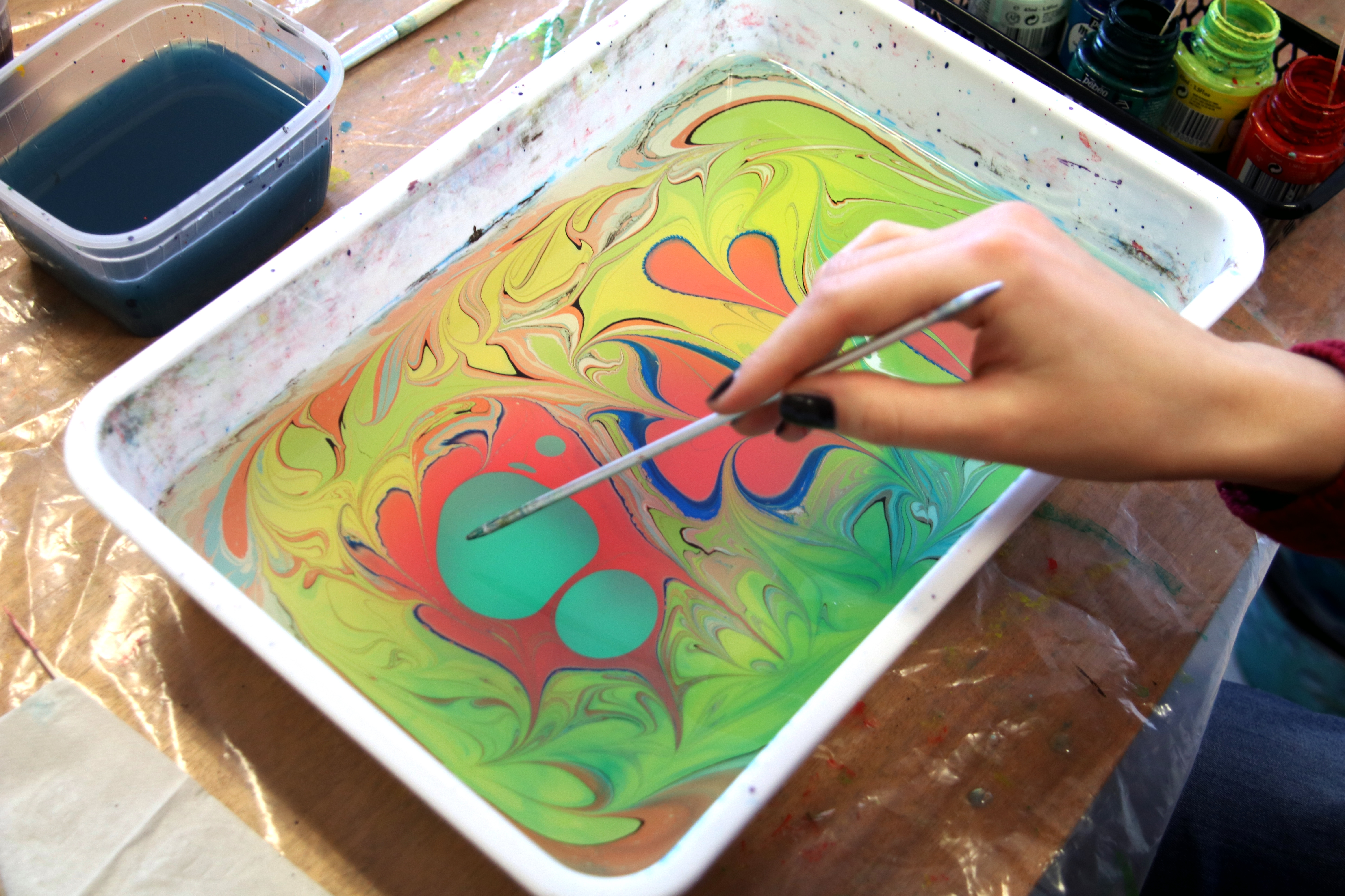 Marbling workshop by Anna Kervinen 27/2/2019